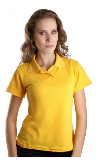 Kit 5 Camisa Gola Polo Feminina Camiseta Uniforme Piquet