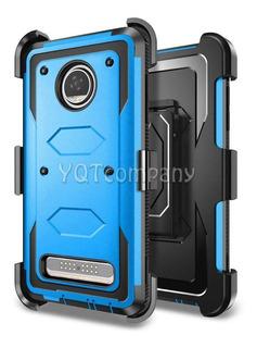 Funda Rígida Para Motorola Moto Z2 Play Azul
