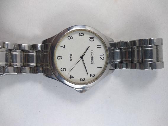 Relógio Technos Quartz 1s13 Bc Masculino Prateado