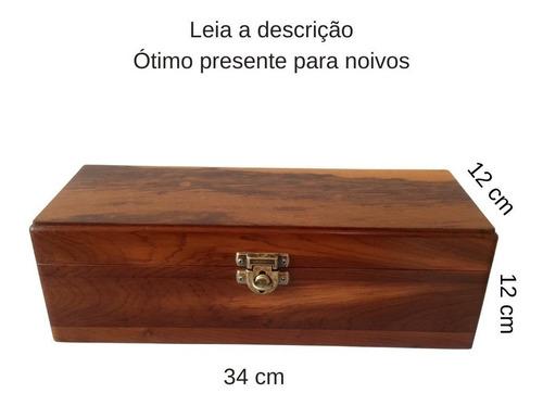 Lembrancinha De Casamento, Caixa De Madeira, Vinho E Cadeado