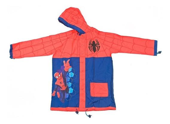 Piloto Infantil Spiderman Con Capucha Original Wabro Lluvia