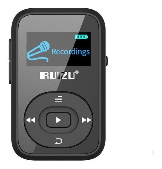 Ruizu X26 8 Gb Tela Mp3 Player Music Player Suporte Rádio Fm