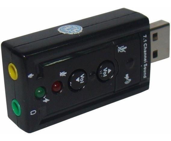 Kit 2 Placa De Som Usb C/ P2 Pc Adaptador Áudio 7.1. M.e