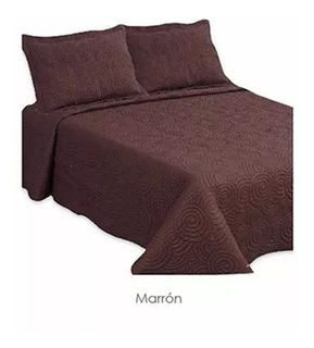 Acolchado Manta Cubrecama 1 1/2 Plazas Marron 170x240cm Soul