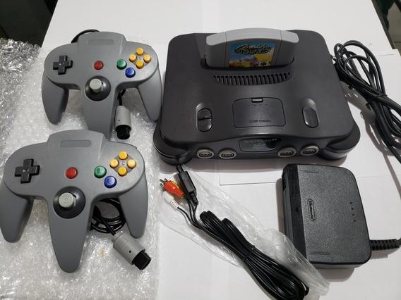 Nintendo 64 N64 + 007 Goldenye Ou Cruis World + 2 Controles