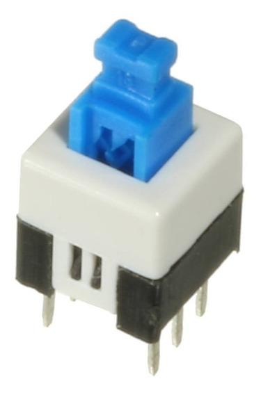 10 * Chave Botão Push Button 7x7mm Azul