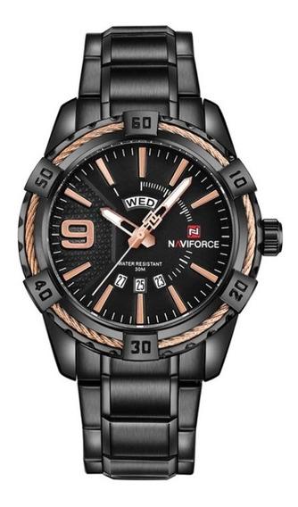 Relógio Masculino Original Naviforce Aço Prova D