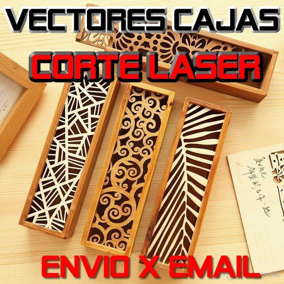 Vectores Cajas En Corel Para Corte Laser Envio Por Descarga