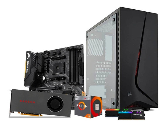 Computadora Pc Gamer Ryzen 5 Rx5700 1tb 8gb Ddr4 Rgb 80+
