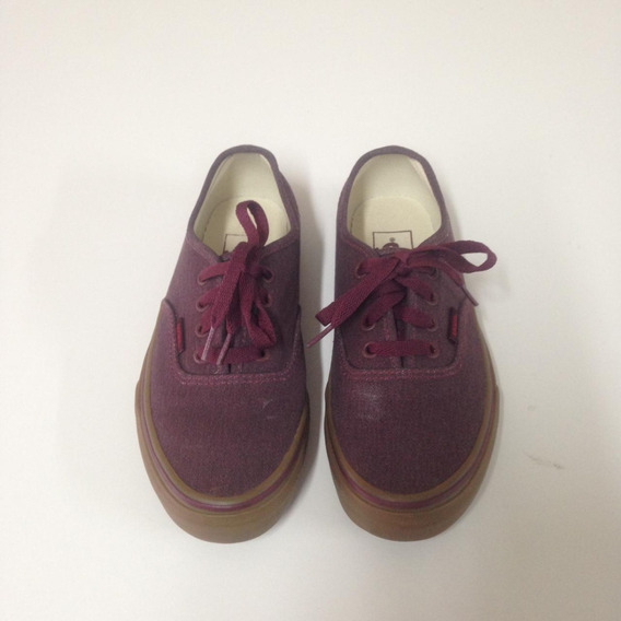 Tênis Vans Authentic Washed Canvas Bordo - Tamanho 35