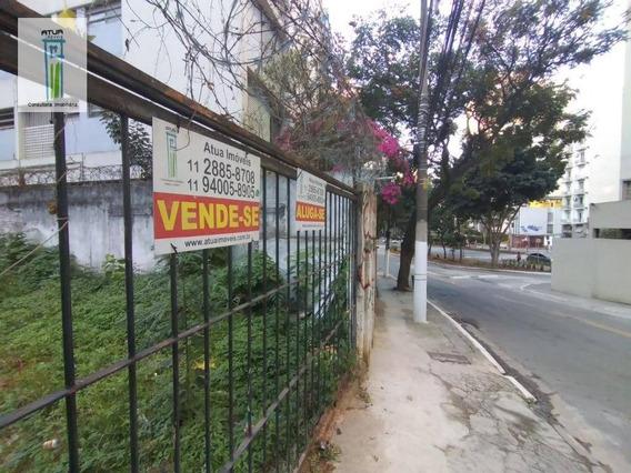 Terreno, 315 M² - Venda Por R$ 2.000.000,00 Ou Aluguel Por R$ 2.000,00/mês - Bela Vista - São Paulo/sp - Te0032