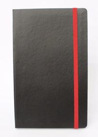 Caderno Tipo Moleskine Pautado 128x210mm 192 Pág El. Vermel