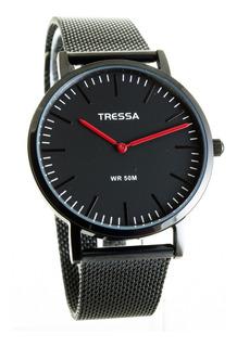Reloj Tressa Clyde Malla Tejida De Acero ,garantia Oficial ,promo!! Hot Price!!