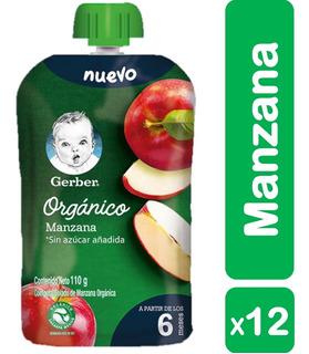 Colado Orgánico Gerber® Manzana X12 Pouches