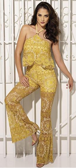 Conjunto Pantalona Com Cropped Renda Vanessa Lima 38