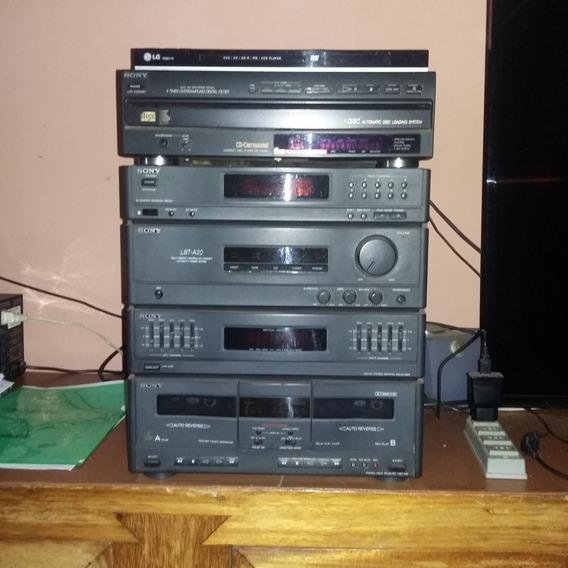 Som Sony, 05 Cds, Controle Remoto.