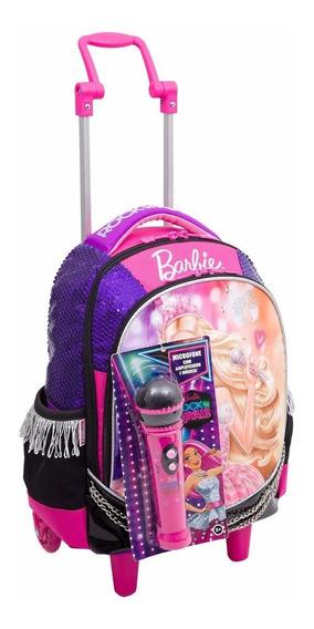 Mochilete Escolar Sestini Barbie Rock Roxo 64342-48