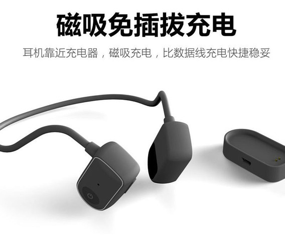 Preto Portátil Headset Fone De Ouvido Motionless Bluetooth 4