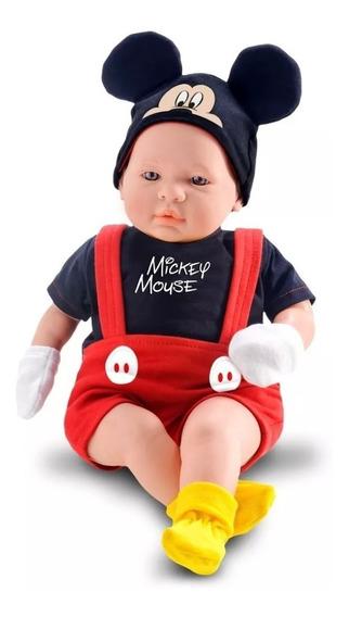 Boneco Mickey 48cm Classic Dolls Recém Nascido Brinquedos