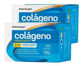 Kit 2 Colágeno Hidrolisado 2em1 Original 30 Sachês Maxinutri