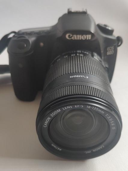 Camera Canon 60d + Lente Efs 18-135mm + Mochila