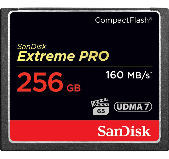 Cartão Sandisk Cf Extreme Pro 256gb 4k Udma 7 160mb/s