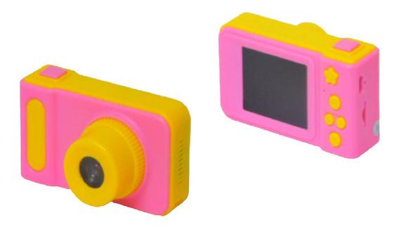 Câmera Digital Fotografica Infantil Kids Selfie 3.0m Rosa