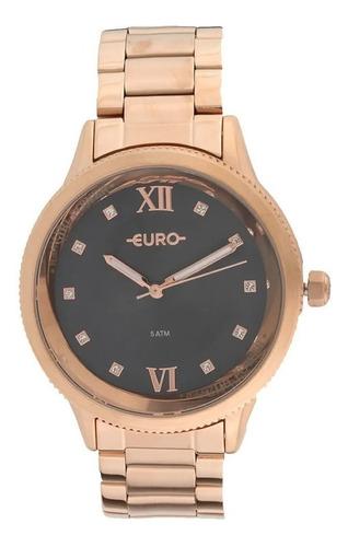 Imagem 1 de 10 de Relógio Euro Girl Power Feminino Rosé Eu2036yof 4f