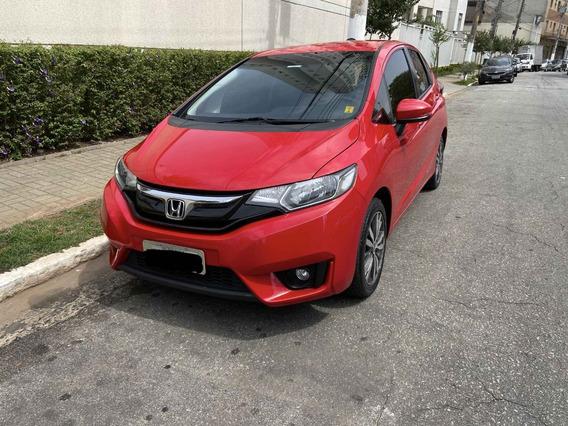 Honda Fit Exl 1.5 Aut 15/16 Vermelho 5 Portas
