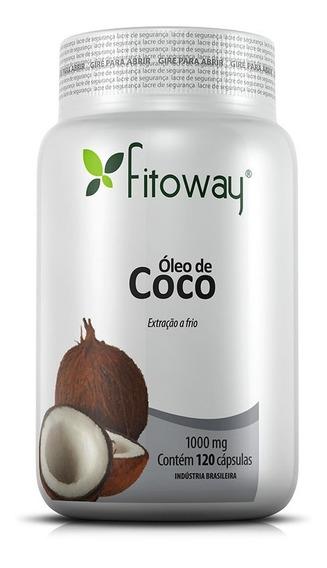 Óleo De Coco 1000mg - Fitoway - 120 Cápsulas