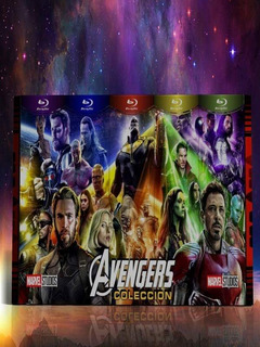 Blu-ray Avengers Peliculas Colección Marvel Completa