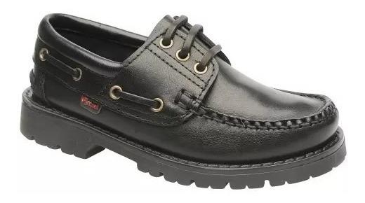 Zapato Escolar Colegial Cuero Marcel Leñador ::art 400