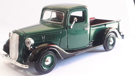 Miniatura Pick Antiga 1937 Ford Escala 1.24 Coleção Classic