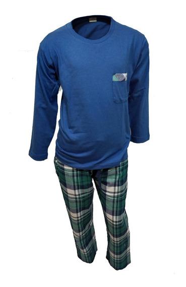 Pijama De Niño Invierno Moda Pantalón Escoces