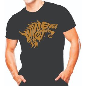 Kit 3 Camiseta Manga Curta Winter Is Goming Game Of Thrones