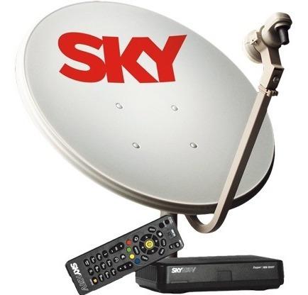 Kit Sky Pré Pago Flex Hd Completo + Instalação Grátis