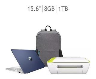 Laptop Hp Pavilion Cw1002la+impresora+mochila