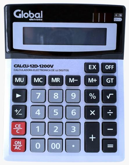 Calculadora Global 12 Digitos, Mod. 1200v Metalizada