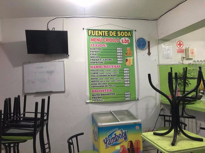 Traspaso De Restaurante -- Fuente De Soda