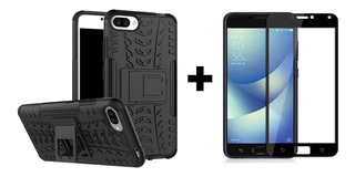 Case Funda Anti Impacto + Vidrio 3d Zenfone 4 Max Zc554kl