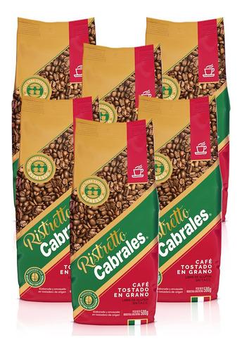Imagen 1 de 7 de 6x Cafe Grano Cabrales Ristretto 500gr Tostado 3kg