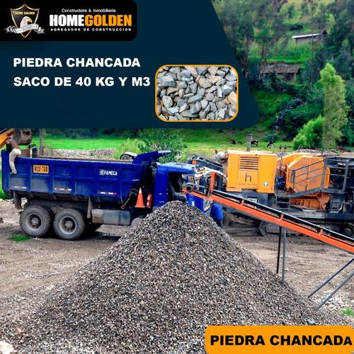 Imagen 1 de 1 de Piedra Chancada Para Obras Y Concreto Saco De 40 Kg Y M3