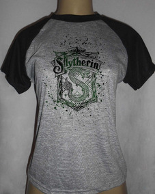 Camiseta Feminina Baby Look Harry Potter Sonserina Slytherin