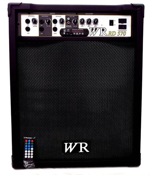 Caixa De Som Amplificada Bluetooth Microfone/guitarra