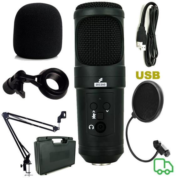 Microfone Arcano U200sb Braço Pop Filter Espuma Outros