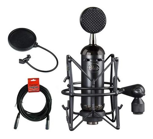Azul Blackout Spark Sl Xlr Microfono De Condensador Con Fil