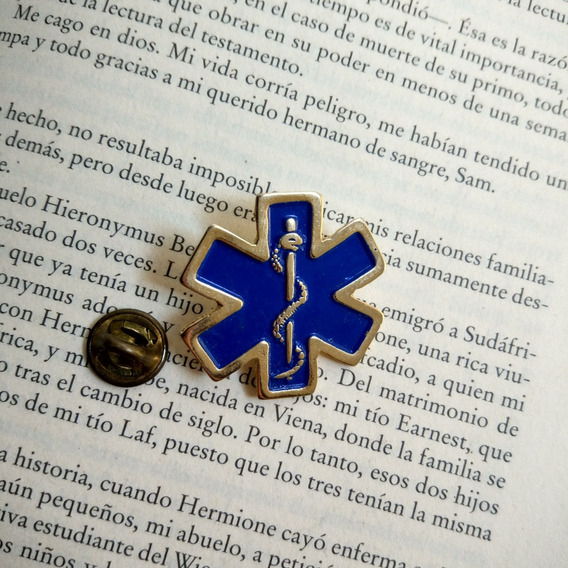 Pin Estrella Vida Paramédico Erum Ambulancia
