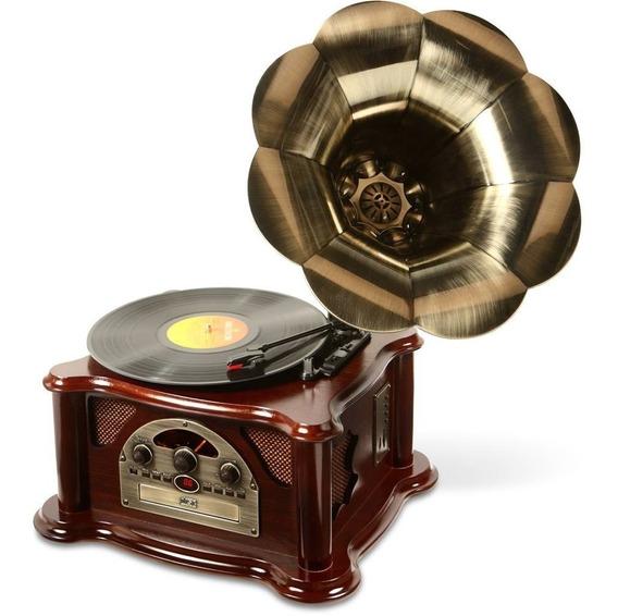 Gramofone Retrô Toca Discos Texas Cd Player