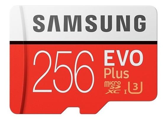 Cartão Microsd 256gb Samsung Evo Plus Microsdxc Class 10 U3