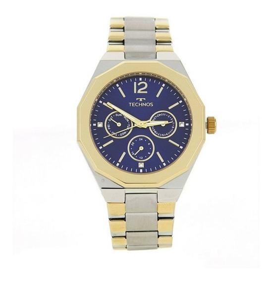 Relógio Feminino Elegance Prata/dourado Technos 6p29ajd/4a